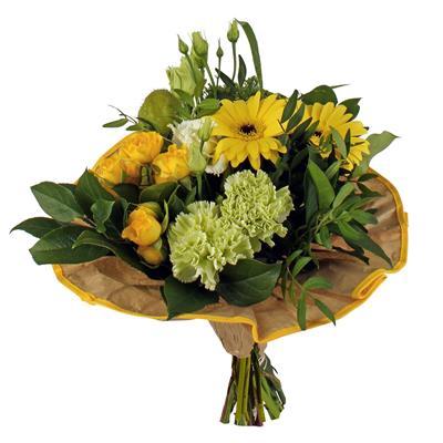 <h4>Bouquet cover Softline kraft Ø32cm yellow</h4>