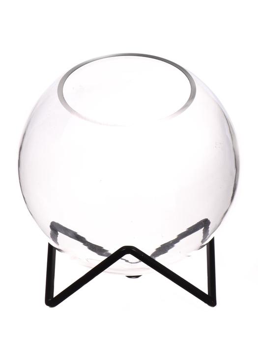 <h4>DF540012700 - Fish Bowl Desha d11/20xh20.5 clear/black</h4>