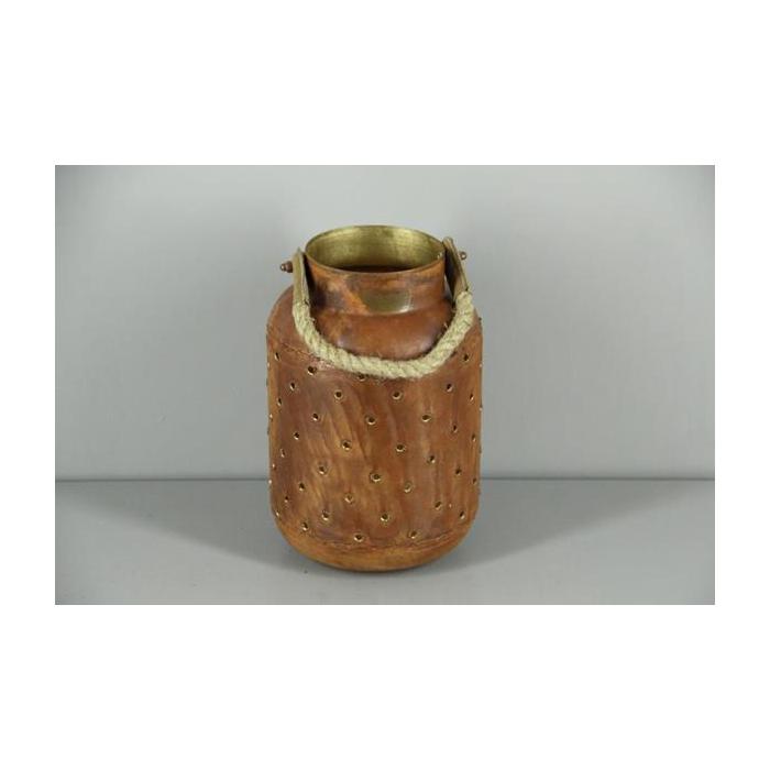 <h4>Lantern Mtl Round Rust/gold 28</h4>