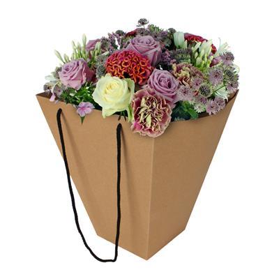 <h4>Bag basic carton 24/24x13/13xH30cm brown</h4>