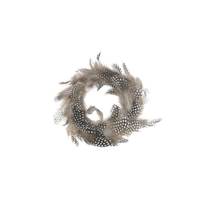 <h4>Feather Wreath Ø20cm Nat.</h4>