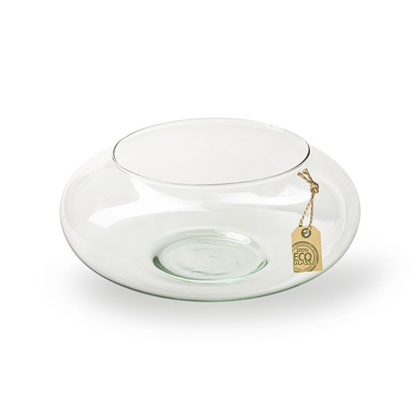 <h4>Glas Eco schaal bol d25*10cm</h4>