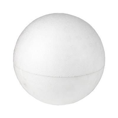 <h4>Boule de styropor 15 cm blanc</h4>