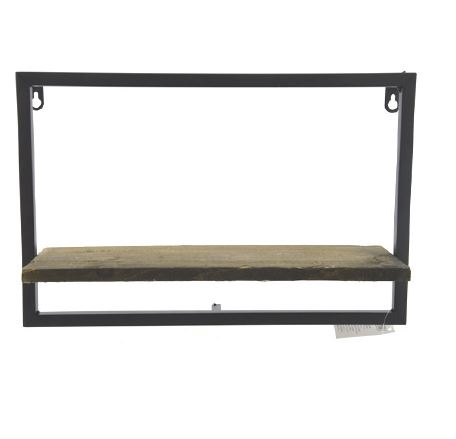 <h4>DF883822800 - Wall shelf brown/black 38cm</h4>