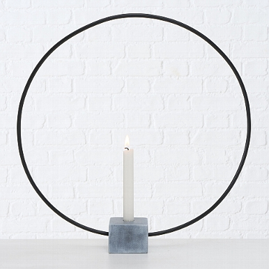 <h4>Candle holder Congo, Round, H 50,00 cm, L 50,00 cm, Iron iron grey</h4>
