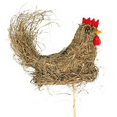 <h4>Pique Paille de poulet 20x8x13,5cm+bâton 50cm nat.</h4>