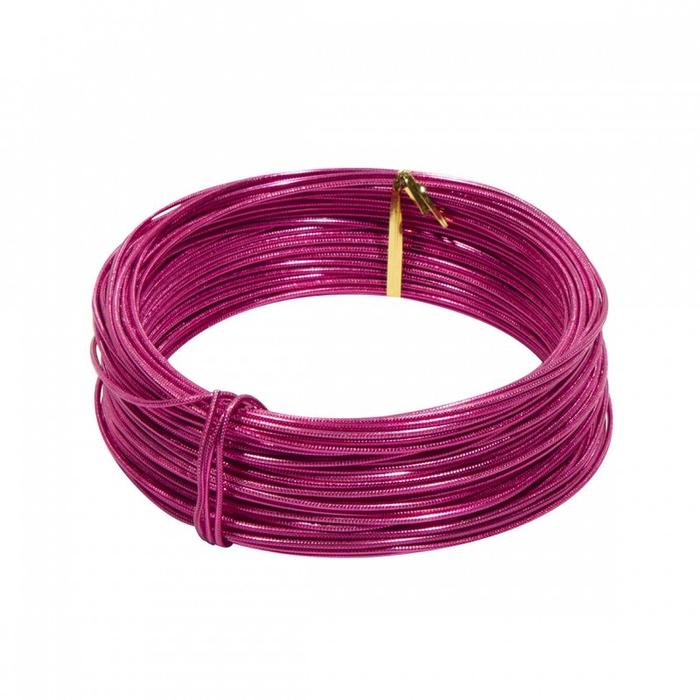 <h4>ALUMINIUM WIRE EMB 2MM*250GR STRONG PINK</h4>