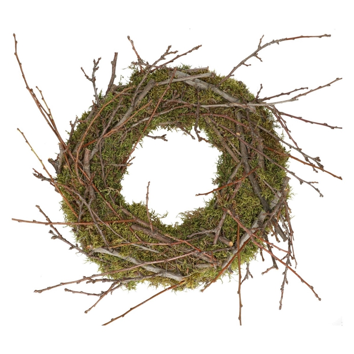 <h4>Wreath d35cm Moss+apple wood</h4>
