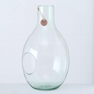<h4>Vaas Eco-Glas, H 37 cm, Transparant</h4>