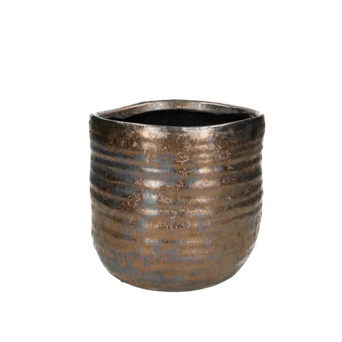 <h4>Ceramics Bronze pot d13.5*13.5cm</h4>