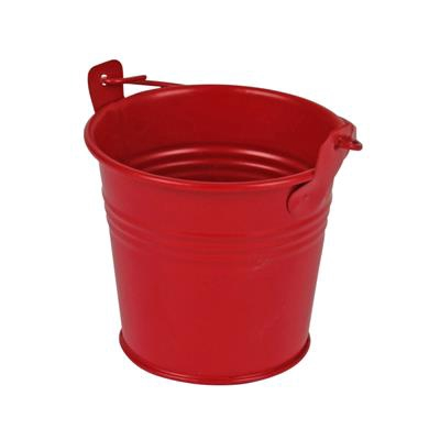 <h4>Bucket Sevilla zinc Ø8,2xH7,2cm - ES7 red matt</h4>