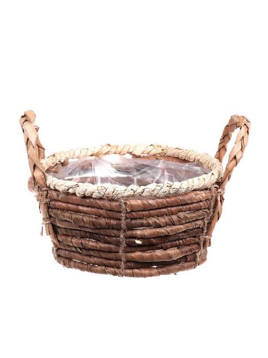 <h4>DF662740400 - Basket Banana tree bark d21xh10/15.5</h4>