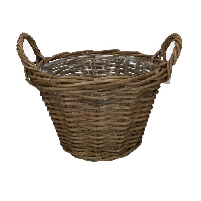 <h4>Baskets Rattan pot+handle d35*25cm</h4>