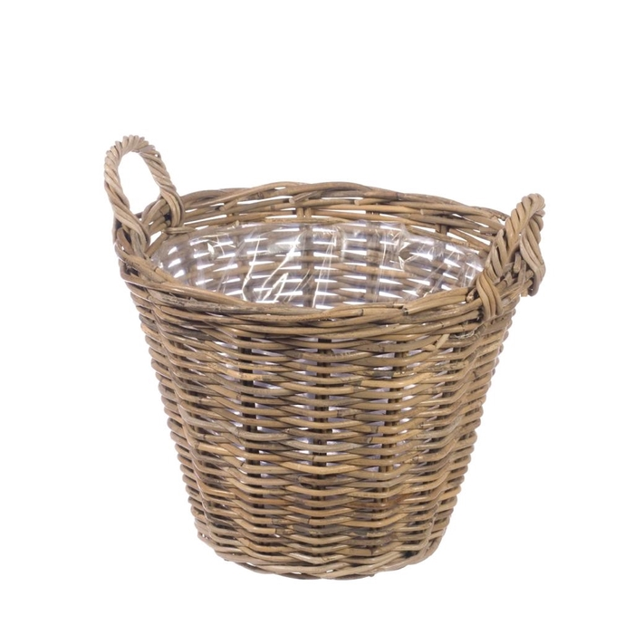 <h4>Basket 38cm with ears natural</h4>