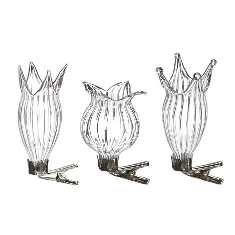 <h4>Glass colour Vase/clip d4*7cm x3</h4>