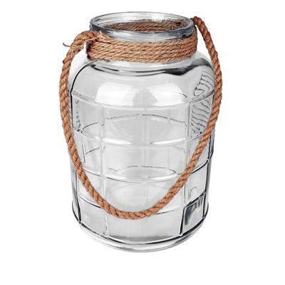 <h4>Vaas Cruz met touw glas Ø24xH35cm</h4>