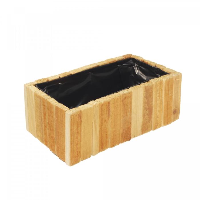<h4>Hout Planter rechthoek 28*14*10cm</h4>