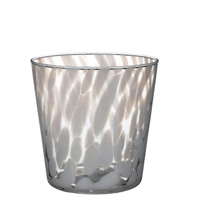 <h4>Glas kleur Spots pot d14.5*14.5cm</h4>
