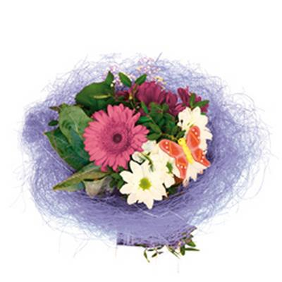 <h4>Bouquet holder sisal round loose Ø25cm lavender</h4>