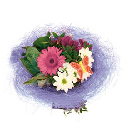<h4>Bouquet holder sisal round loose Ø30cm lavender</h4>