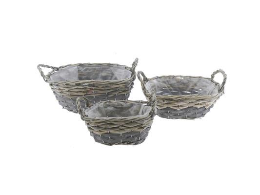 <h4>Basket Willow S/3  30x22x12cm</h4>