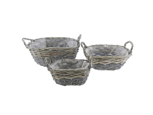 <h4>Basket Willow S/3  30x22x12cm</h4>