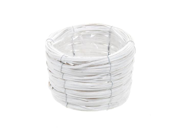 <h4>DF470601800 - Basket Paia d17xh12 white</h4>