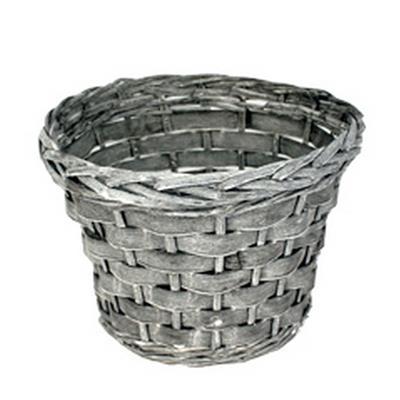 <h4>Pot Manilla wood bar/saule ø28xH20cm gris</h4>