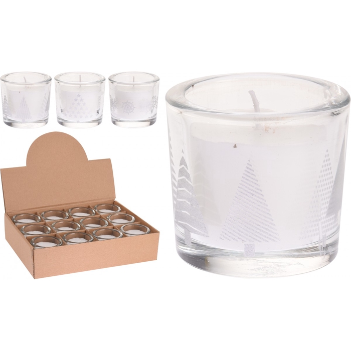 <h4>Candle Glass christmasdeco d7*6cm ass</h4>
