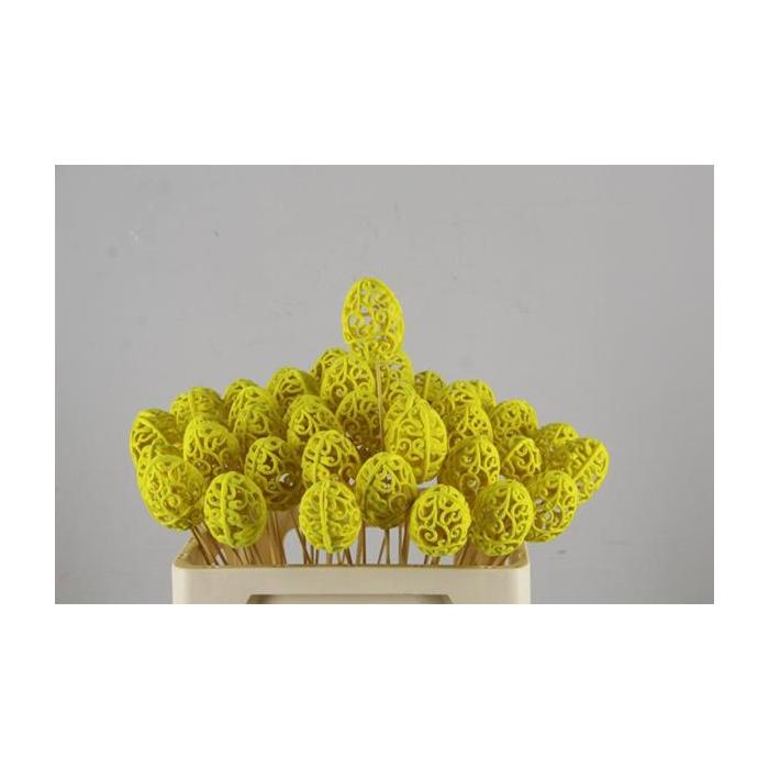 <h4>Stick Egg Baroque Yellow  7cm</h4>