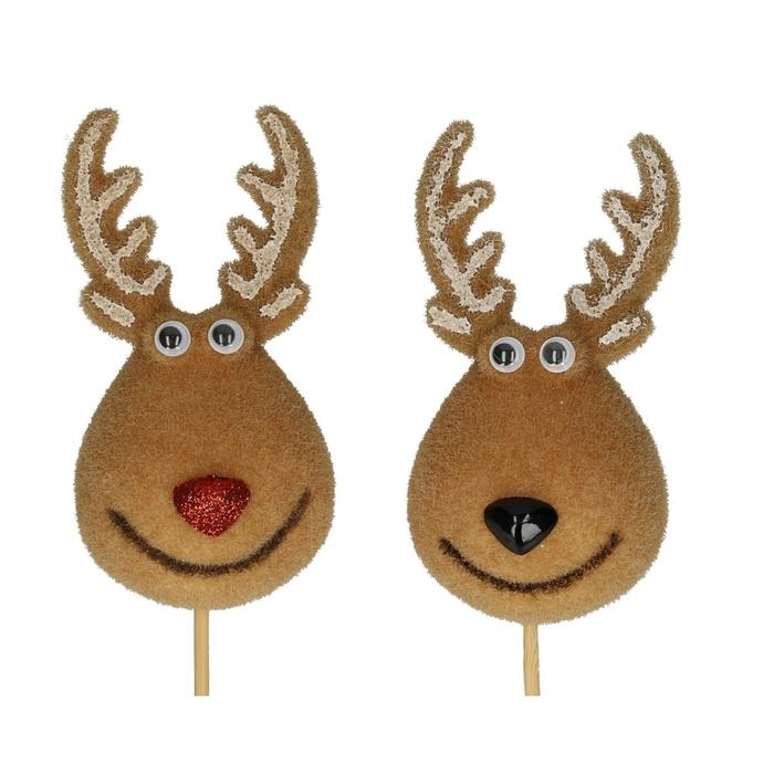 <h4>Christmas sticks 50cm Reindeer duo 11cm</h4>