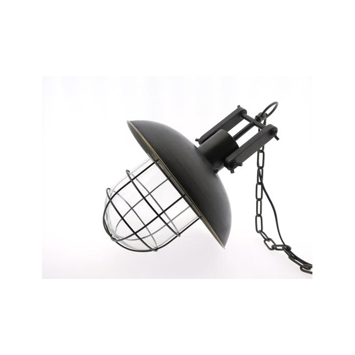 <h4>Lamp Mtl Hanging Ø35cm Blk/gld</h4>