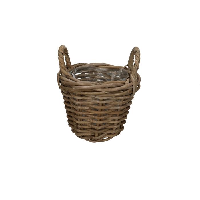 <h4>Baskets Rattan pot+handle d20*16cm</h4>
