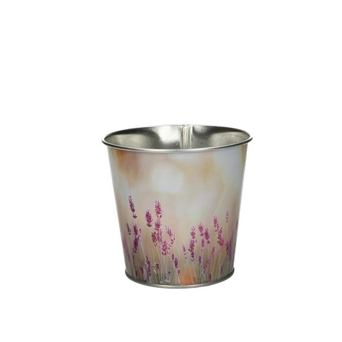 <h4>Zink Pot lavendel d10*10cm</h4>