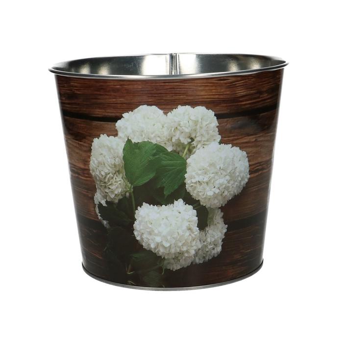 <h4>Zink Pot hortensia/hout d14*16cm</h4>