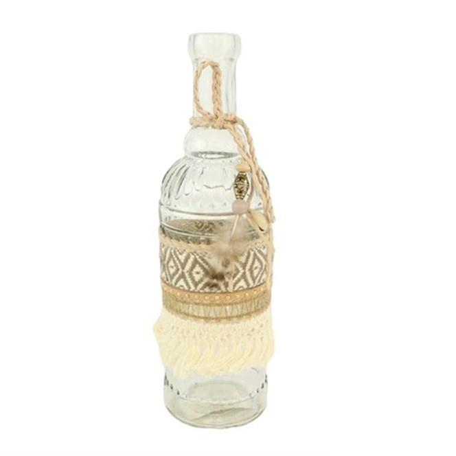 <h4>Glas Fles Boheme d6.5*23cm</h4>
