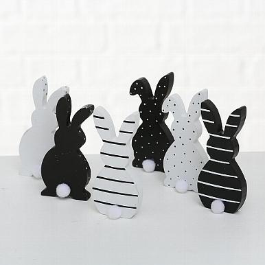 <h4>Figurine Mixie, 6 ass., Rabbit, H 12 cm, MDF, Colour mix MDF colour-mix</h4>