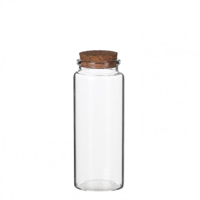 <h4>Glas Fles+kurk d4.5*12.5cm</h4>