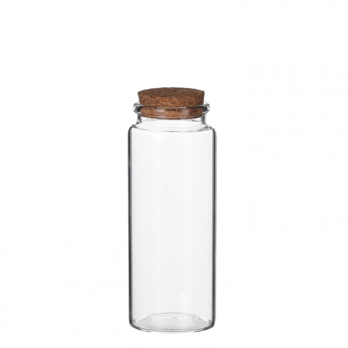 <h4>Glass Bottle+cork d4.5*12.5cm</h4>