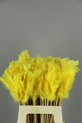 <h4>Stick Feather Yellow 14cm</h4>