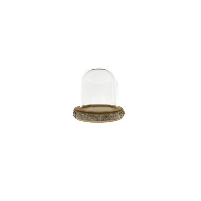 <h4>Glass Bell+birch Ø16/h16cm</h4>