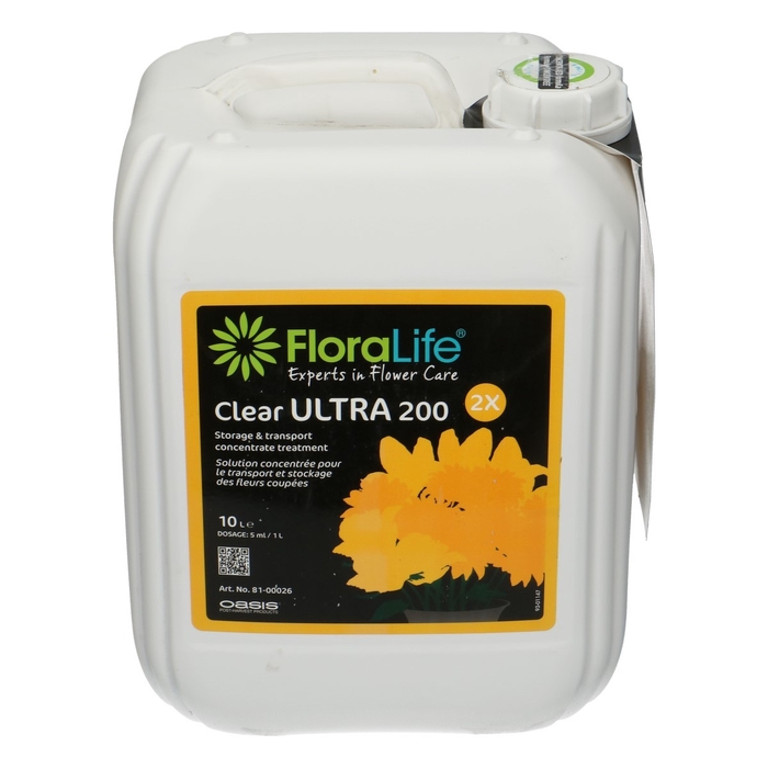 <h4>Abono organico Floralife Ultra 200 Clear 10L</h4>