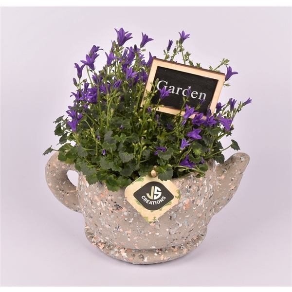 <h4>Cement theepot 22cm</h4>