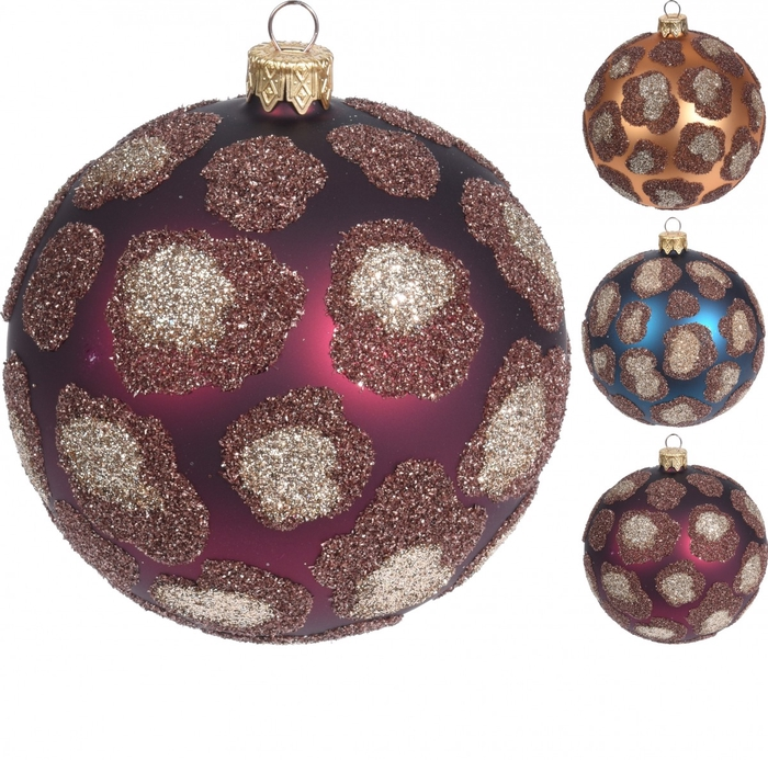 <h4>Christmas bauble Ball deco panther 80mm</h4>