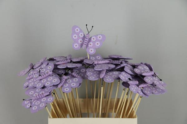 <h4>Stick Butterfly Wooden Purple</h4>