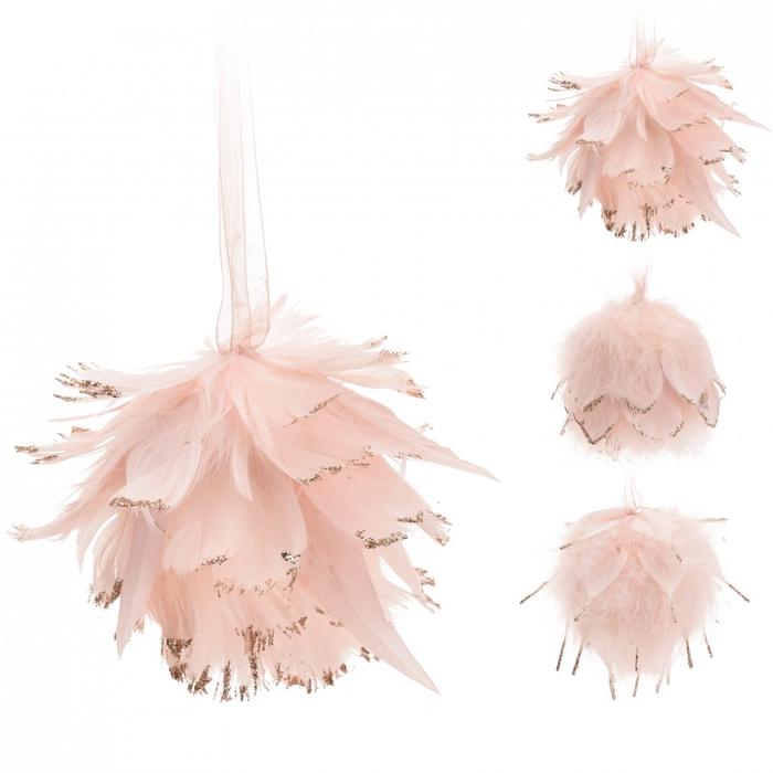 <h4>Christmas Hanger feathers 10cm ass</h4>