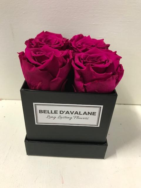 <h4>Flowerbox vk 10cm zwart/d.roze</h4>