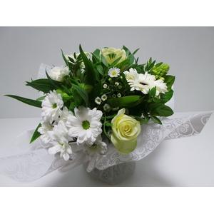 Bouquet Aqua Large White