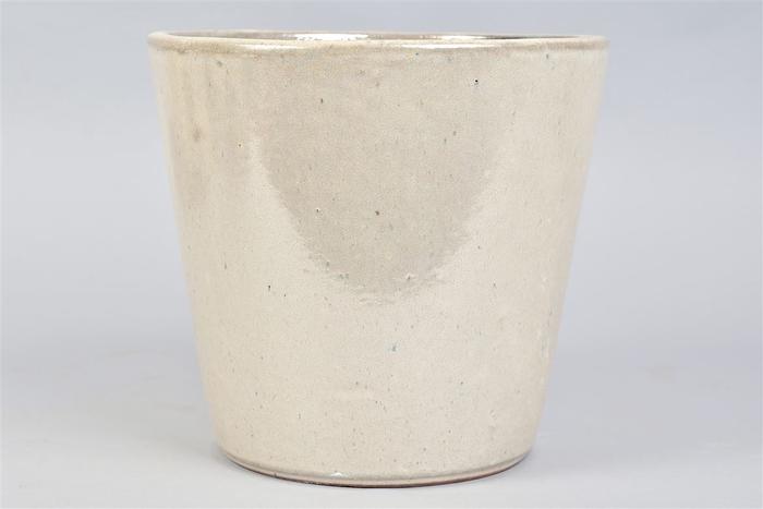 <h4>Alicante Cream Pearl Pot 24x22cm</h4>