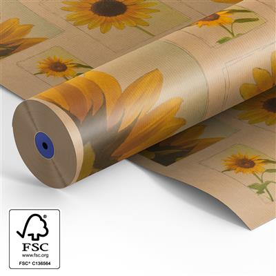 <h4>Papier rol 60cm br. kraft  40gr Sunflowers  500m.</h4>